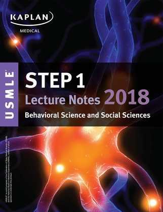USMLE Step 1 Lecture Notes 2018: Behavioral Science and Social Sciences