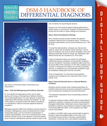 DSM-5 Handbook Of Differential Diagnosis (Speedy Study Guides)