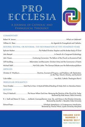 Pro Ecclesia Vol 26-N1