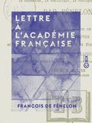 Lettre à l'Académie française