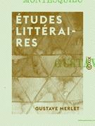 Études littéraires