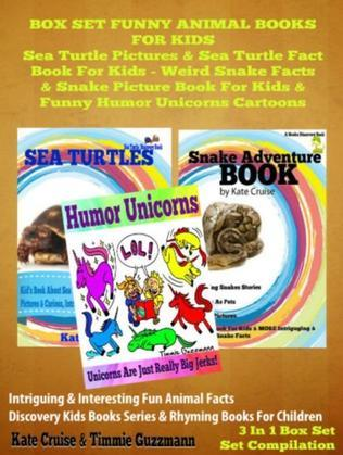 Box Set Funny Animal Books For Kids: Sea Turtle Pictures & Sea Turtle Fact Book Kids - Weird Snake Facts & Snake Picture Book For Kids & Funny Humor U