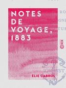 Notes de voyage, 1883