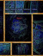 Mark Xiornik Rozen Pettinelli Color Artwork Drawings by Hand Neon