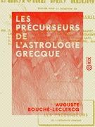 Les Précurseurs de l'astrologie grecque