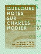 Quelques notes sur Charles Nodier