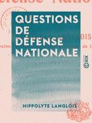 Questions de défense nationale