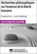 Recherches philosophiques sur l'essence de la liberté humaine de Schelling