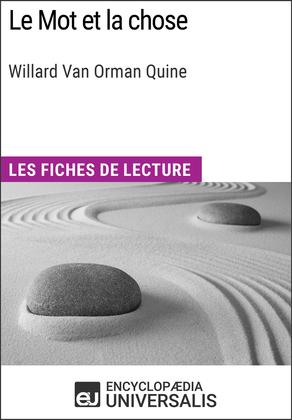 Le Mot et la chose de Willard Van Orman Quine