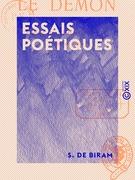 Essais poétiques - Suivi par Le Démon, récit oriental