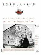Josep Pla: el viaje no se acaba (Ínsula n° 845, mayo de 2017)