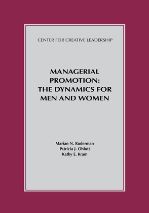 Managerial Promotion: The Dynamics for Men and Women: The Dynamics for Men and Women