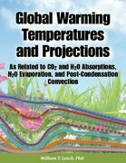 Global Warming Temperatures and Projections: As Related to CO2 and H2O Absorptions, H2O Evaporation, and Post-Condensation Convection
