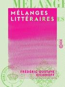 Mélanges littéraires