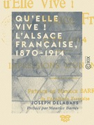 Qu'elle vive ! L'Alsace française, 1870-1914 - Impressions d'un neutre