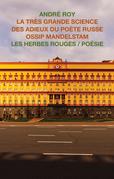 La très grande science des adieux du poète russe Ossip Mandelstam