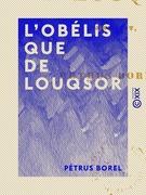 L'Obélisque de Louqsor - Pamphlet