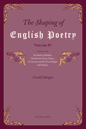 The Shaping of English Poetry – Volume IV