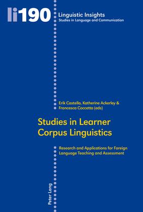 Studies in Learner Corpus Linguistics