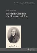 Matthias Claudius als Literaturkritiker