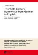 Twentieth-Century Borrowings from German to English