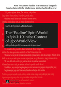 The «Pauline» Spirit World in Eph 3:10 in the Context of Igbo World View