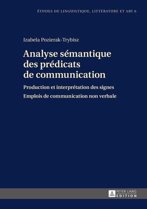 Analyse sémantique des prédicats de communication