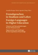 Fremdsprachen in Studium und Lehre- Foreign Languages in Higher Education