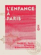 L'Enfance à Paris