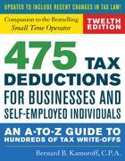 475 Tax Deductions for Businesses and Self-Employed Individuals