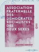 Association fraternelle des démocrates socialistes des deux sexes - Pour l'affranchissement politique et social des femmes
