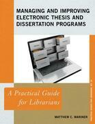 Managing and Improving Electronic Thesis and Dissertation Programs