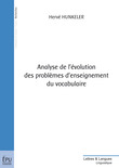 Analyse de l'évolution des problèmes d'enseignement du vocabulaire