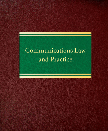 Communications Law and Practice