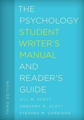 The Psychology Student Writer's Manual and Reader's Guide