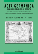 Acta Germanica / Volume 45 • 2017