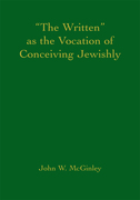The Written as the Vocation of Conceiving Jewishly