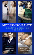 Modern Romance Collection: April 2018 Books 1 - 4: Castiglione's Pregnant Princess / Consequence of His Revenge / Imprisoned by the Greek's Ring / Blackmailed into the Marriage Bed (Mills & Boon e-Book Collections)
