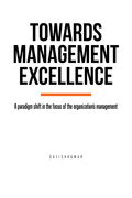 Towards Management Excellence