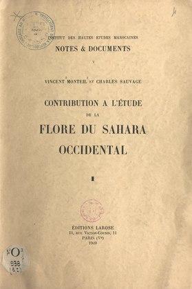 Catalogue des plantes connues des Tekna, des Rguibat et des Maures (1)