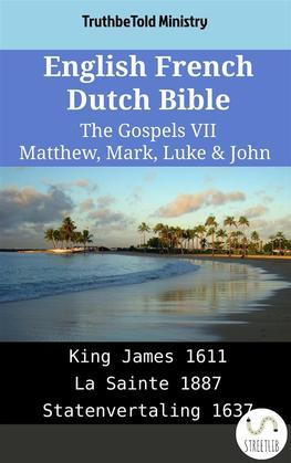 English French Dutch Bible - The Gospels VII - Matthew, Mark, Luke & John