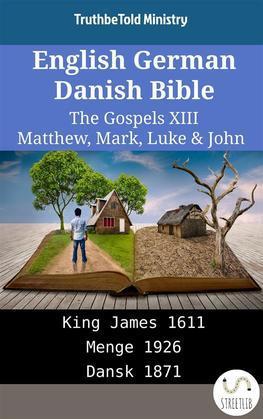 English German Danish Bible - The Gospels XIII - Matthew, Mark, Luke & John