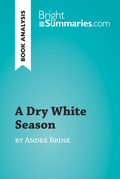 A Dry White Season by André Brink (Book Analysis)