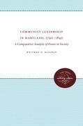 Community Leadership in Maryland, 1790-1840