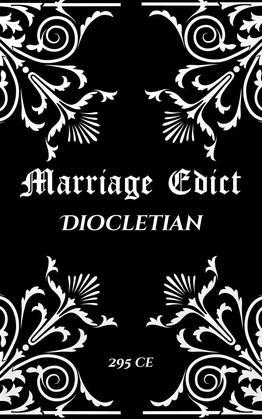 Diocletian's Marriage Edict
