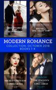 Modern Romance October Books 1-4: Billionaire's Baby of Redemption / Bound by a One-Night Vow / Sheikh's Princess of Convenience / The Italian's Unexpected Love-Child