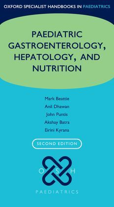 Oxford Specialist Handbook of Paediatric Gastroenterology, Hepatology, and Nutrition