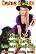 Guard Dog Treated Her to Halloween Bestiality: Halloween Bestiality Treats