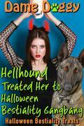 Hellhound Treated Her to Halloween Bestiality Gangbang: Halloween Bestiality Treats
