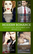 Modern Romance December Books 5-8: Pregnant by the Desert King / The Virgin's Sicilian Protector / Married for His One-Night Heir / Bound by Their Christmas Baby